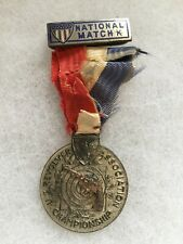 1933 US Revolver Association Championship Medal Sterling 2nd place NAMED w/score