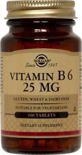 Vitamin B-6 25mg Solgar 100 Tabs