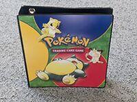 Vintage Pokemon Original Ring Binder Snorlax Folder WOTC Ok Condition