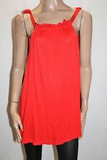 ASOS Brand Red Low Sides Tank Top Size 12 BNWT #TS05