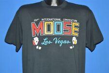 vintage 80s 101st International Moose Convention Las Vegas Black t-shirt Large L