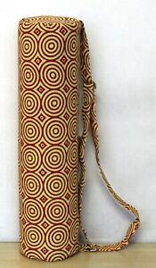 Cotton Handmade Indian Yoga Men Women Mat Bag With Adjustable Shoulder Strap Art