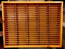 Napa Valley Box Company 100 Slot Wooden Cassette Tape Storage