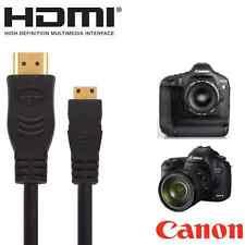 Canon Powershot Sx60, Sx510, sx520 Hs, Eos 7d Mii Cámara Hdmi Mini TV del cable 2.5 m
