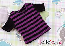 ☆╮Cool Cat╭☆95.【NS-13N】Blythe Pullip T-Shirt # Stripe Purple