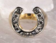 Vintage Men's Horseshoe Diamond Ring 14K Yellow Gold Size 10.75
