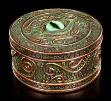 ASTUCCIO - Verde DRAGO OCCHIO - Fantasy Cassetta porta gioielli regalo