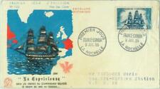 87298 -  FRANCE  - POSTAL HISTORY -  FDC  COVER 1955: Ship BOAT maps