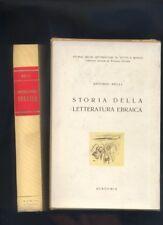 Antonio Belli, Storia della letteratura ebraica,Accademia 1951 con ex libris R