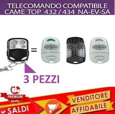 KIT 3 TELECOMANDO CANCELLO GARAGE SERRANDA COMPATIBILE CAME TOP 432 434 NA SA EV