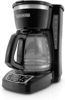 BLACK+DECKER 12-Cup Programmable Coffeemaker, Black, CM1160B - Used