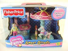 "FISHER PRICE LOVING FAMILY --  SWEET STREETS ""CAROUSEL"" 2002 NIB"