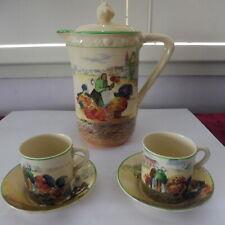 """Royal Doulton """"Dutch Market Flower Seller""""  Part Coffee set D4785 c.1939"""