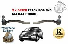 FOR HONDA CIVIC 1.3 IMA HYBRID 2006-2012 NEW  2x OUTER TRACK RACK TIE ROD END