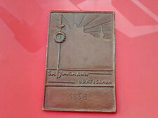 1938 SK JUNGMANN cord without  Man with sword fencing old vintage rare plaque