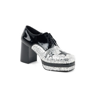 "FUNTASMA Glamrock-02 3 1/2"" Heel Closed Toe Platform Flat"