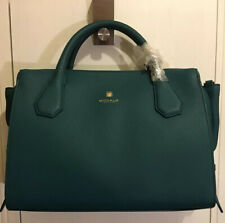 MODALU ENGLAND WILLOW EMERALD LEATHER TRIPLE COMPARTMENT GRAB SHOULDER BAG BNWT