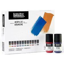 Liquitex Professional Acrylic Gouache Essentials Paint Set - 12 x 22ml Tubes