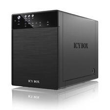 """ICY BOX IB-3640SU3 externes 4fach Gehäuse 3,5"""" SATA III HDD JBOD USB 3.0 + eSATA"""