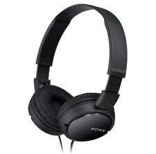 Casque Filaire Pliable Sony Noir Oreillettes Rembourrees Ecouteurs Audio Musique