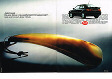 PUBLICITE ADVERTISING  1990   AUDI   AM coupé (2 pages)
