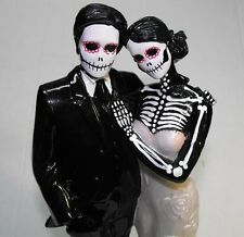 Day of the Dead Wedding Cake Topper With No Veil - 12 inches