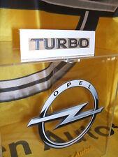 """Original Opel Schriftzug Aufkleber """" Turbo """" matt-chrom chrom matt 177458 Neu"""