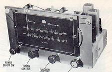 1951 BROWNING RJ-12B RADIO AM-FM SERVICE MANUAL REPAIR