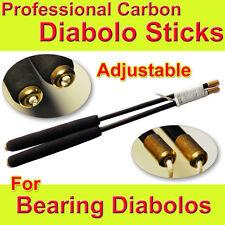 Diabolo Sticks - CARBON Diabolo Hand Sticks & String - Adjustable String Length