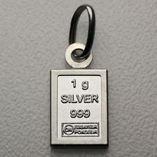 1 gramme Barres Argent 999 pendentif avec 925er Version (sans chaîne) cadeau
