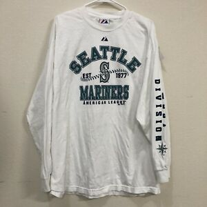 Seattle Mariners Majestic Long Sleeve Shirt XL