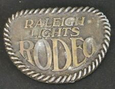 Raleigh Lights Rodeo Vintage Belt Buckle