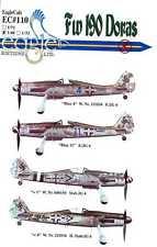 EagleCals Decals 1/48 FOCKE WULF Fw-190D DORA Fighter JG6 & JG4