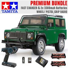 TAMIYA RC 58657 Land Rover Defender 90 - CC01 1:10 Premium Wheel Radio Bundle