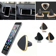 Gold Black Magnetic Car Air Vent Holder Mount Cradle Stand Clip For Phone GPS FA