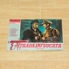 STRADA INFUOCATA set 8 fotobuste poster Ognennye versty Guerra War Armata Rossa
