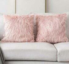 Decorative Blush Pink Faux Fur Cushion Cover 45cm x 45cm