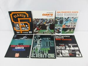 SAN FRANCISCO GIANTS Yearbooks 1967 1968 1969 1970 1971 1972 Willie Mays NICE