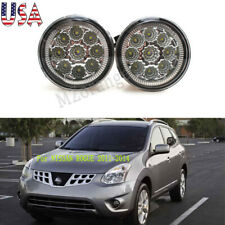 Pair Fog Light Led For 2011 2012 13 2014 Nissan Rogue Clear Lens Driving Lamp Us