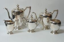 Reed & Barton Sterling Silver Pointed Antique 5-Pc. Coffee & Tea Service