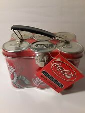 Coca Cola 6 Pack Can Lunch Tin - New - 2001