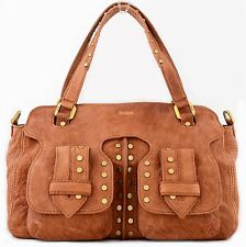 NWT BOTKIER WEST WAY TAN LEATHER COVERTIBLE CROSSBODY SATCHEL NUTMEG BROWN $448