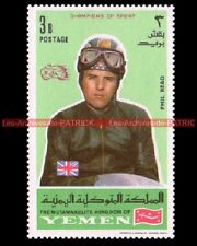 READ Phil Pilote YEMEN Timbre Neuf Poste Moto 1969 Stamp Stempel Sello