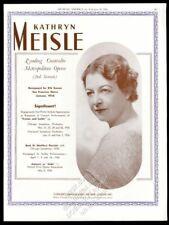 1936 Kathryn Meisle photo opera recital Usa tour trade booking ad