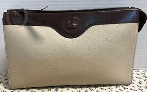 Vintage Dooney & Bourke~*Rare*Bone with BC *LARGE*Cosmetic/Utility Case/Clutch
