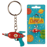 Novelty Collectable Space Gun Space Cadets Keyring Split Ring and Chain