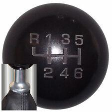 Black Composite -L 6 Speed shift knob kit fits non-threaded VW Audi