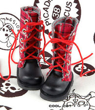 ☆╮Cool Cat╭☆【13-15】Blythe Pullip Doll Shoes Boots # Stripe Red