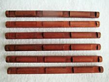 """6 wooden round Lincoln Logs 4-Notch Logs 10 1/2"""" see pictures for design"""
