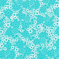Fabri-Quilt Baby Talk Turquoise Daisys 100% cotton Fabric by the yard